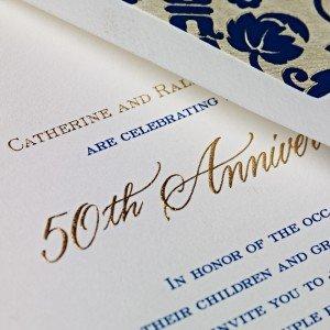 Engraved 50th Anniversary Invite