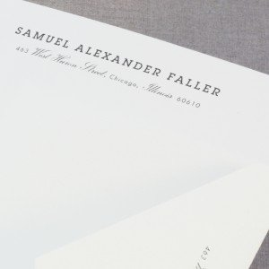 Thermographed Pearl White Letterhead
