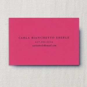 Thermographed Hibiscus Calling Card