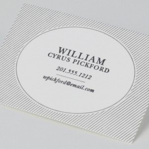 Letterpress Pearl White Calling Card